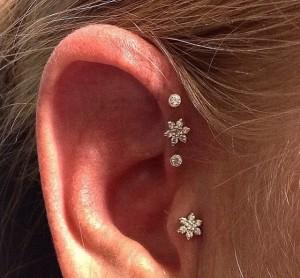 Triple forward helix piercing Stoke-on-trent Body piercing - Hanley, ear, Newcastle, stafffordshire